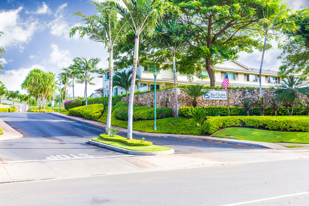 Picture of the Entrance of our Ko Olina Hillside Villas.
