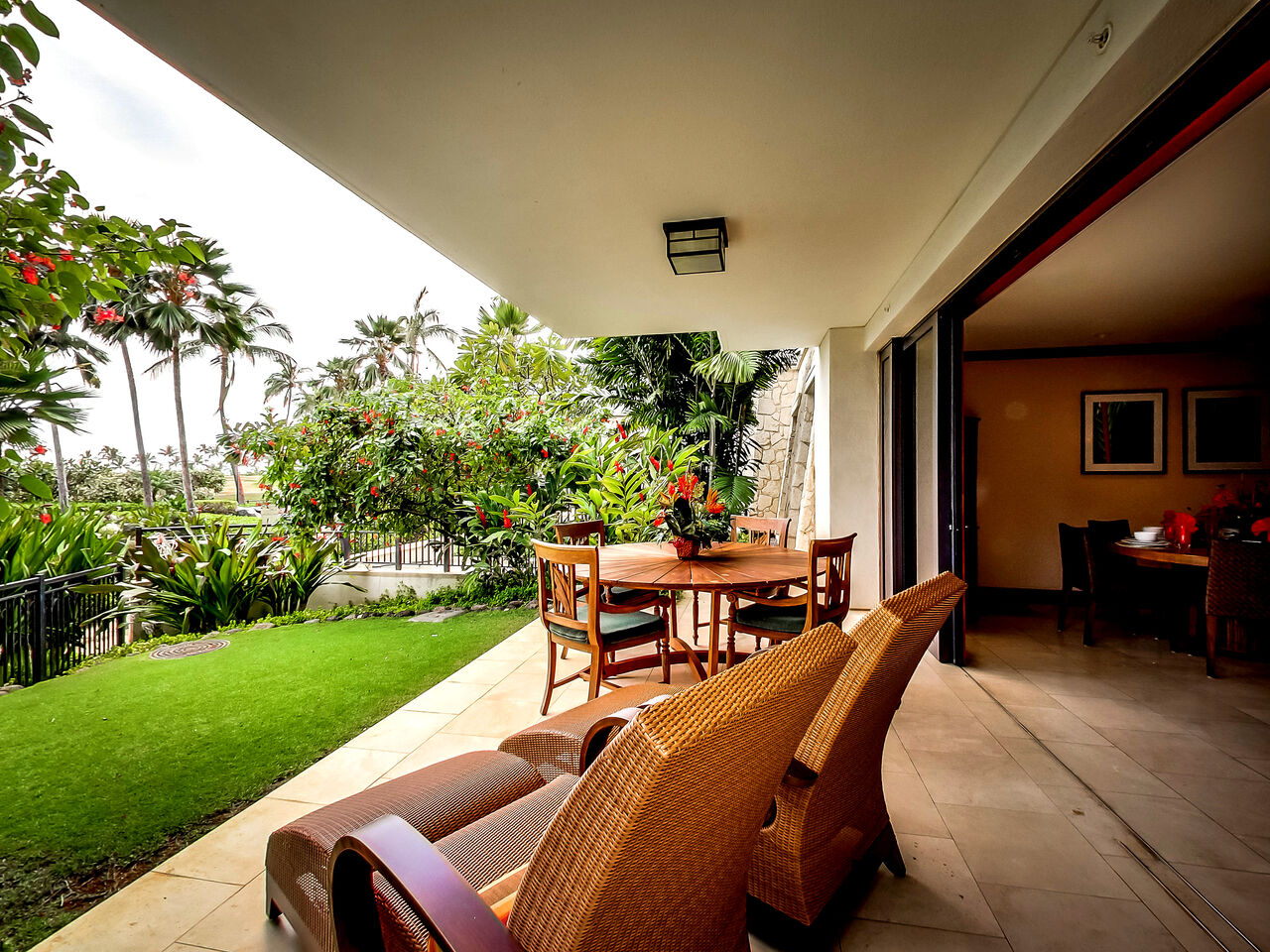 View of the Patio in Our Ola Property Management Rental.