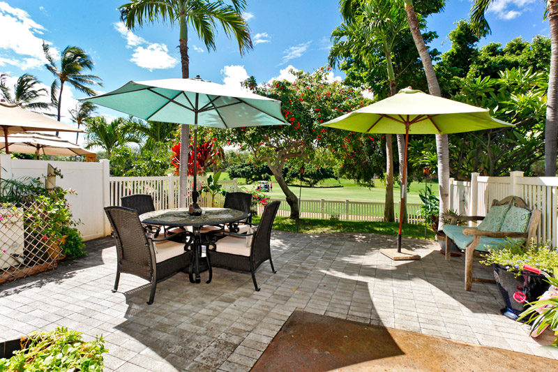 The patio of one of the homes we manage